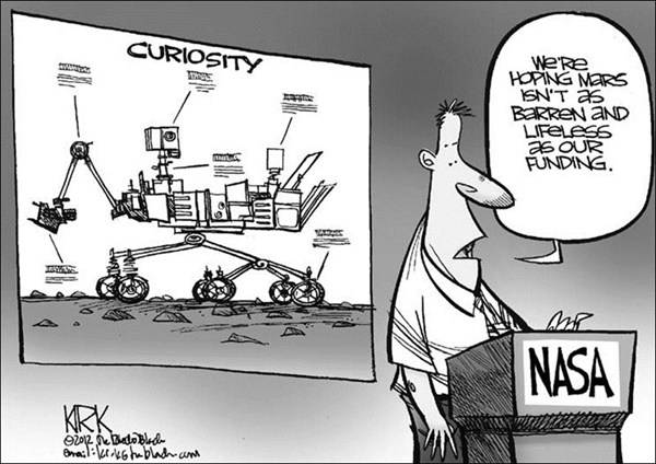 Curiosity  Kirk Walters,Toledo Blade,curiosity,mars,rover,nasa,funding,life,water,red,planet,mars,curiosity-mars