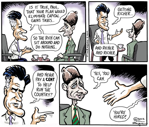 Pauls Plan © Tim Eagan,Deep Cover,tax,cuts,romney,ryan,rich,poor,romney-ryan