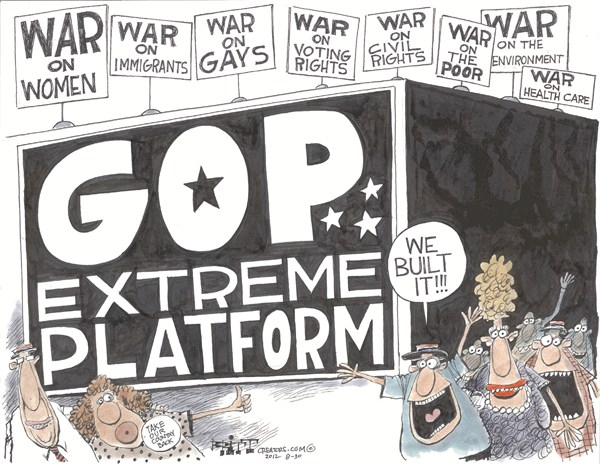 GOP Platform  Chris Britt,The State Journal Register,gop,platform,rights,poor,rights,voting,republican-convention-2012
