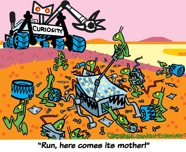 Curiosity  Cal Grondahl,Utah Standard Examiner,mars,curiosity,rover,mother,alien,planet,red,research,curiosity-mars