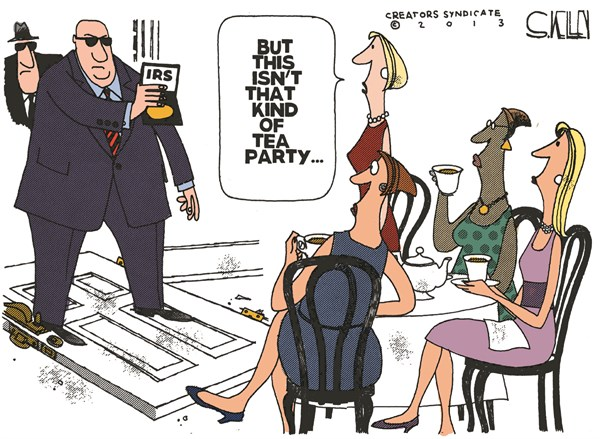 IRS Tea Party  Steve kelley,The New Orleans Times, Picayune,irs,tea party,targets,republican,obama,irs-tea-party