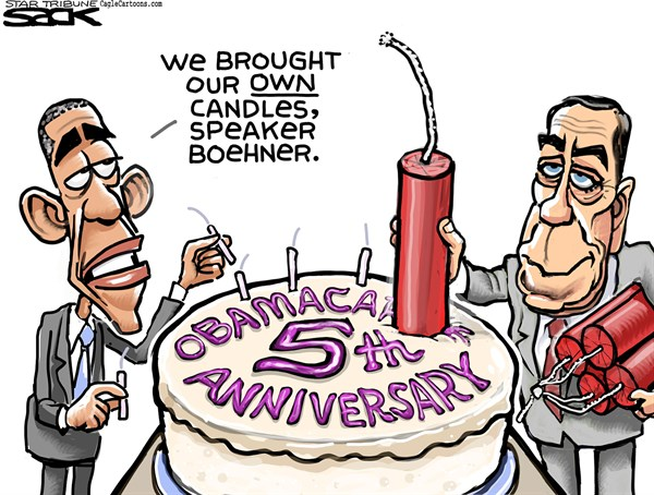 Obamacake © Steve Sack,The Minneapolis Star Tribune,Obamacare, Boehner