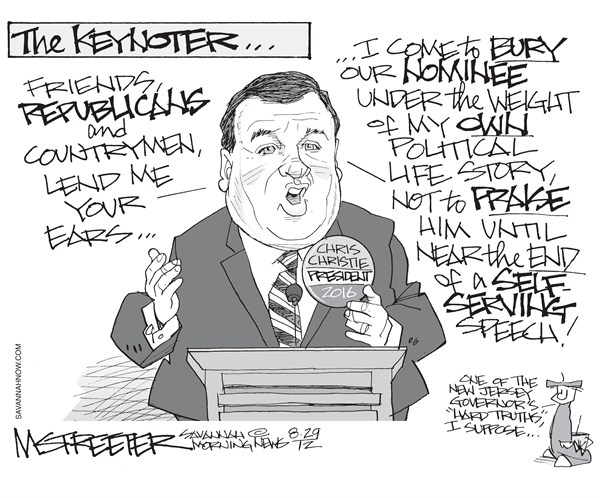 Duly Noted  Mark Streeter,The Savannah Morning News,chris christie,speech,convention,republican,florida,gop,christie-speech,republican-convention-2012