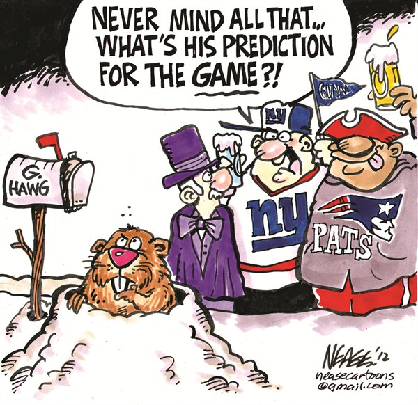 Superbowl Prediction © Steve Nease,Freelance,Super Bowl,prediction,Groundhog,football,winner,game,NFL