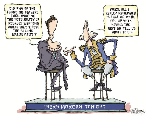 Piers Morgan Tonight © Tim Campbell,Indianapolis,gun control,assault weapons,piers morgan,cnn,2nd amendment,founding fathers,gun debate 2012, Living With Guns, nra, NRA 2012, second amendment