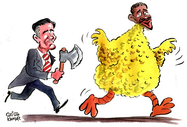 Christo Komarnitski - Bulgaria - Big Bird Obama - English - Big Bird, President,Elections, Barack Obama,Mitt Romney, USA
