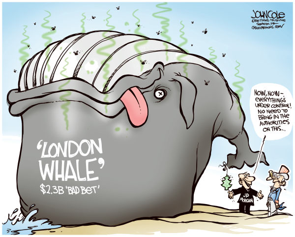 London Whale Cartoon