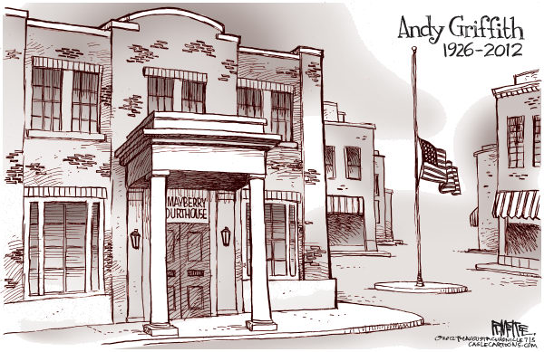 RIP Andy Griffith © Rick McKee,The Augusta Chronicle,Andy Griffith