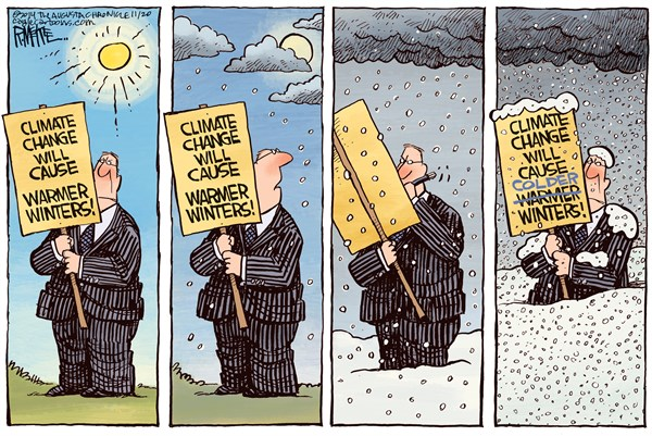 Climate Changing © Rick McKee,The Augusta Chronicle,Climate change, global warming, winter, snow