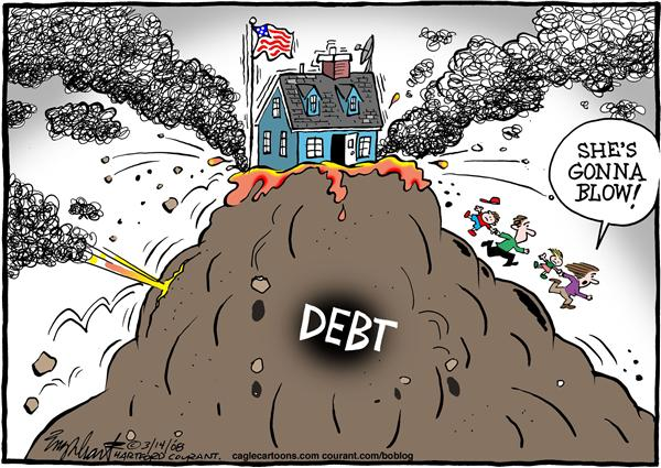 See these cartoons as calls for action. (Debt Crisis ; Cartoon by By Bob Englehart, in The Hartford Courant  -  3/14/2008 12:00:00 AM; source and courtesy - caglecartoons.com). Click for larger image.