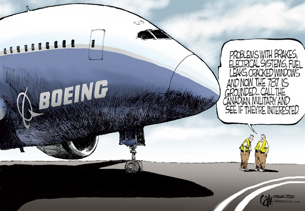 CANADA 787 © Cardow,The Ottawa Citizen,CANADA, Boeing, 787, dreamliner, military, Canadian, problems