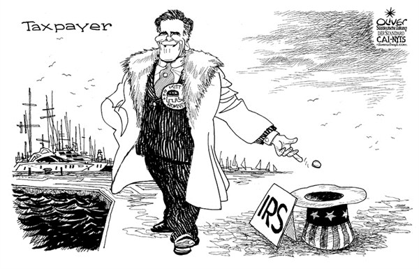 Romney taxes  Oliver Schopf,Der Standard, Austria,Mitt Romney,taxes,