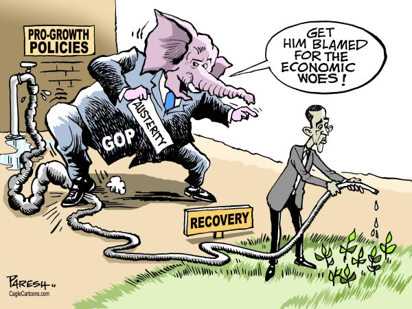 Paresh Nath - The Khaleej Times, UAE - GOP blames Obama COLOR - English - GOP, Republican party, USA Election2012,President,economic  crisis, pro-growth policies, economic recovery, Obama