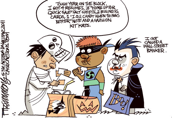 day after halloween © David Fitzsimmons,The Arizona Star,holidays, halloween