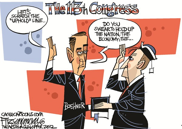 David Fitzsimmons - The Arizona Star - 113th Congress - English - congress, republicans, house of representatives, boehner