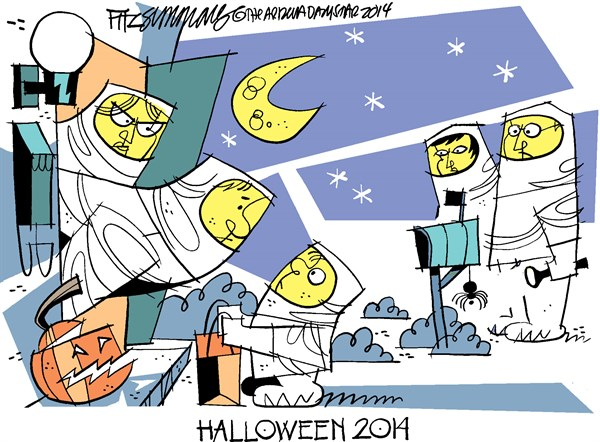 halloween 2014 © David Fitzsimmons,The Arizona Star,halloween,ebola
