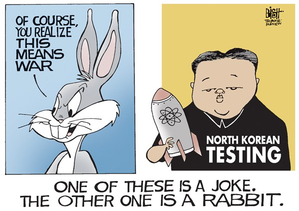 NORTH KOREAN JOKE  Randy Bish,Pittsburgh Tribune-Review,NORTH KOREA,KIM JONG UN,NUCLEAR,MISSILE,TEST,TESTING