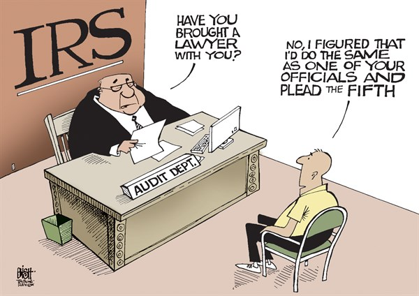 IRS TAKES THE FIFTH  Randy Bish,Pittsburgh Tribune-Review,IRS, FIFTH AMENDMENT, TAKE THE FIFTH, TESTIFY, PROBE, INVESTIGATION, SCANDAL